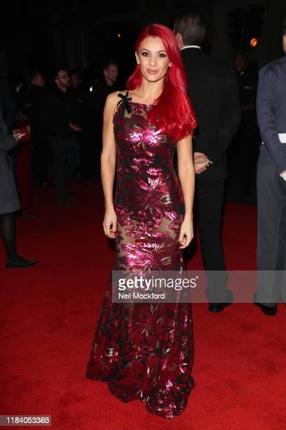 Dianne Buswell arrives on the red carpet of Pride of Britain 2019 at Grosvenor House Hotel on October 28 2019 in London England