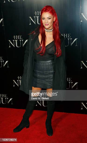 Dianne Buswell attends an immersive preview screening of The Nun at Brompton Cemetery on September 4 2018 in London England