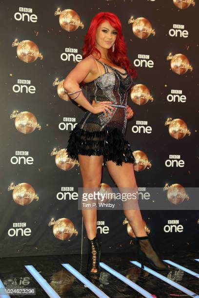 Dianne Buswell attends the red carpet launch for 'Strictly Come Dancing 2018' at Old Broadcasting House on August 27 2018 in London England