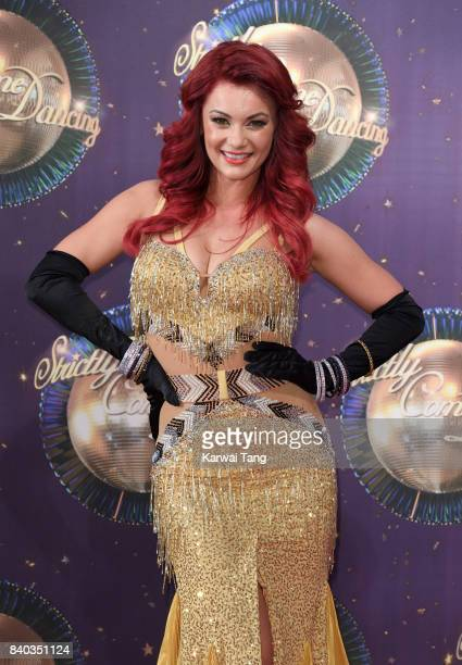 Dianne Buswell attends the 'Strictly Come Dancing 2017' red carpet launch at Broadcasting House on August 28 2017 in London England