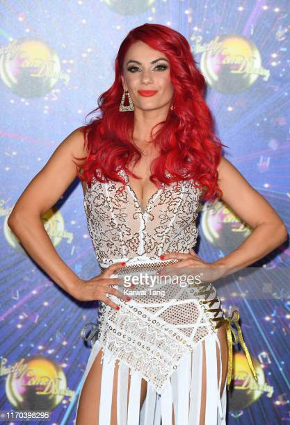 Dianne Buswell attends the Strictly Come Dancing launch show red carpet arrivals at Television Centre on August 26 2019 in London England