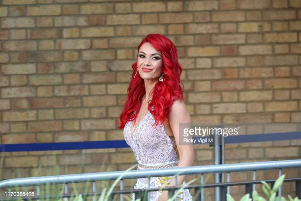 Dianne Buswell seen at Strictly Come Dancing red carpet launch show recording at Television Centre on August 26 2019 in London England