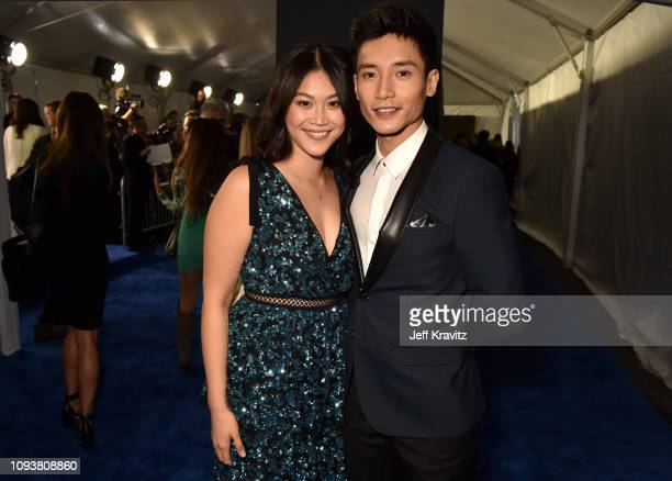 Dianne Doan and Manny Jacinto at The 24th Annual Critics' Choice Awards at Barker Hangar on January 13 2019 in Santa Monica California