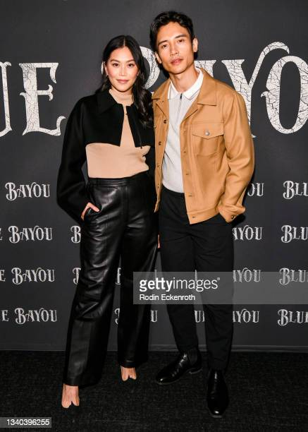 """Dianne Doan and Manny Jacinto attend the Los Angeles Premiere of Focus Features' """"Blue Bayou"""" at DGA Theater Complex on September 14, 2021 in Los..."""