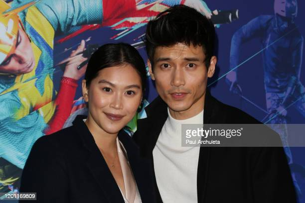 Dianne Doan and Manny Jacinto attend the LA premiere of Cirque Du Soleil's Volta at Dodger Stadium on January 21 2020 in Los Angeles California