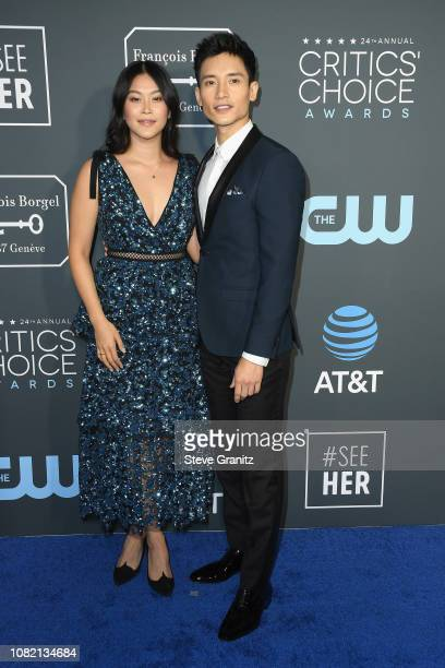 Dianne Doan and Manny Jacinto attends the 24th annual Critics' Choice Awards at Barker Hangar on January 13 2019 in Santa Monica California