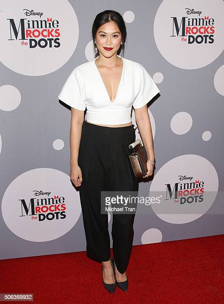 Dianne Doan arrives at the Minnie Mouse Rocks The Dots retrospective fashion exhibit held at The Paper Agency on January 22 2016 in Los Angeles...