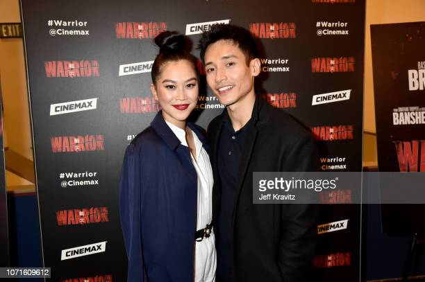Dianne Doan Manny Jacinto at the Cinemax Sneak Peek of Warrior With Justin Lin Shannon Lee and Jonathan Tropper at Arclight Hollywood on December 10...