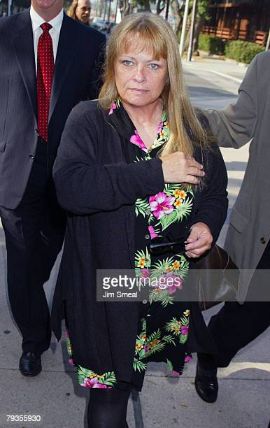 Dianne Mattson arrives before a pretrial session of Robert Blake who faces murder charges in the death of his wife Bonny Lee Bakley July 10 2003 at...
