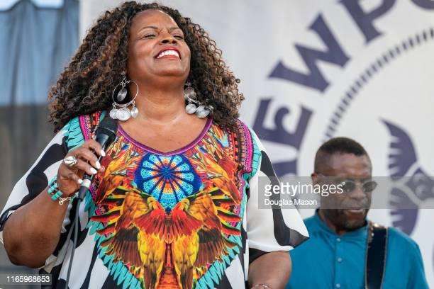 Dianne Reeves perform during the Newport Jazz Festival 2019
