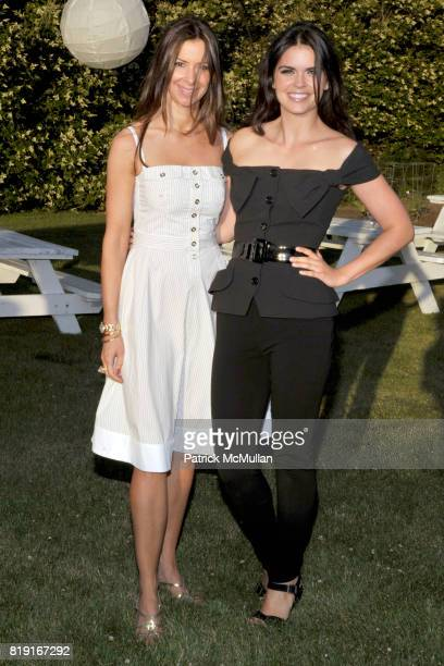 Dianne Vavra and Katie Lee attend THE CINEMA SOCIETY DIOR BEAUTY host a screening of GREASE SingALong at Katie Lee's Beach House on July 2 2010 in...