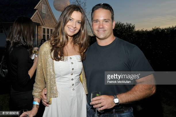 Dianne Vavra and Mike Combs attend THE CINEMA SOCIETY DIOR BEAUTY host a screening of GREASE SingALong at Katie Lee's Beach House on July 2 2010 in...