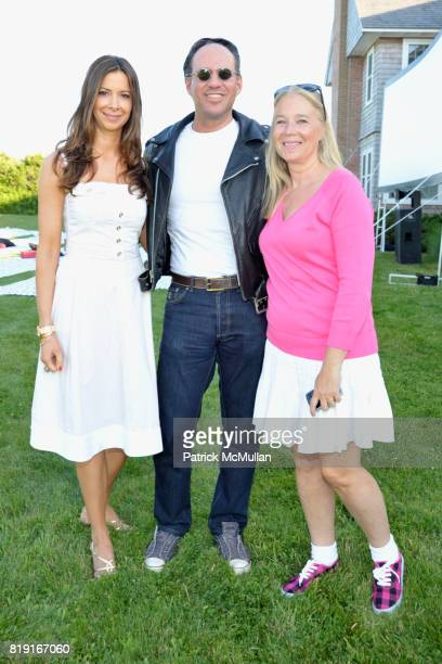 """Dianne Vavra, Andrew Saffir and Paige Pedersen attend THE CINEMA SOCIETY & DIOR BEAUTY host a screening of """"GREASE Sing-A-Long"""" at Katie Lee's Beach..."""
