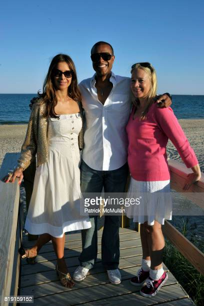 Dianne Vavra Brandon Weaver and Paige Pedersen attend THE CINEMA SOCIETY DIOR BEAUTY host a screening of GREASE SingALong at Katie Lee's Beach House...