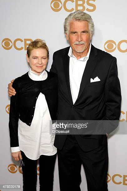 Dianne Wiest and James Brolin attend the 2015 CBS Upfront at The Tent at Lincoln Center on May 13 2015 in New York City