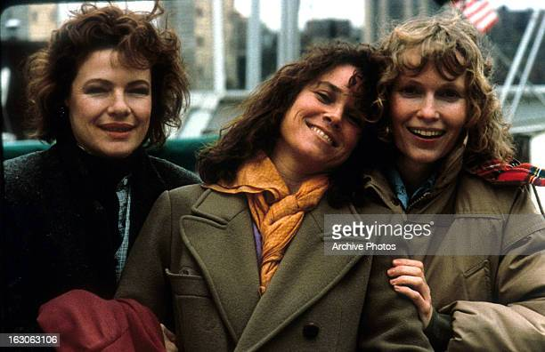 Dianne Wiest Barbara Hershey and Mia Farrow in a scene from the film 'Hannah And Her Sisters' 1986