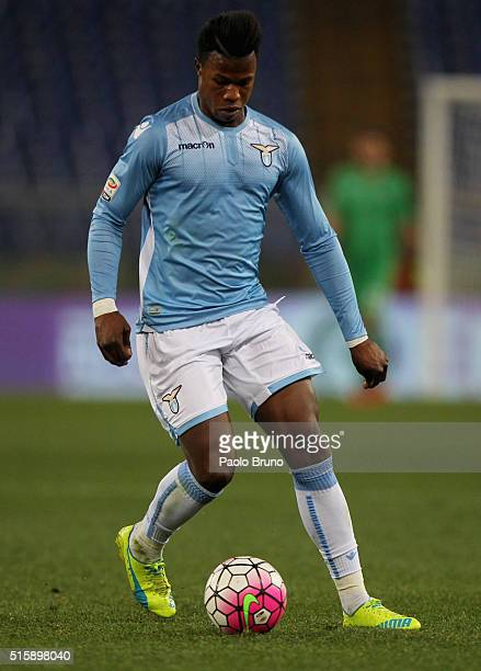 Diao Keita Balde of SS Lazio in action during the Serie A match between SS Lazio and Atalanta BC at Stadio Olimpico on March 13 2016 in Rome Italy