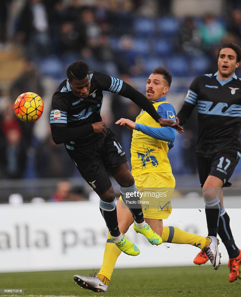Diao Keita Balde of SS Lazio scores the team's fourth goal during the Serie A match between SS Lazio and AC Chievo Verona at Stadio Olimpico on January 24, 2016 in Rome, Italy.