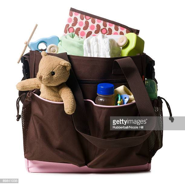 diaper bag - diaper bag stock pictures, royalty-free photos & images