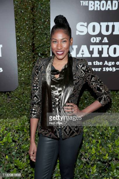 Diarra Kilpatrick attends The Broad Museum celebration for the opening of Soul Of A Nation Art in the Age of Black Power 19631983 Art Exhibition at...