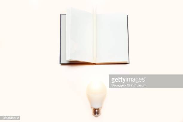 Diary Against White Background
