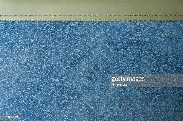Diary leather photo album blue