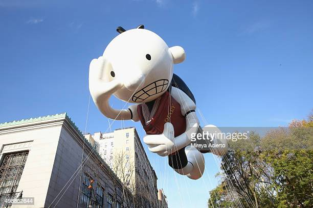 Diary of a Wimpy Kid balloon during the 89th Annual Macy's Thanksgiving Day Parade on November 26, 2015 in New York City.