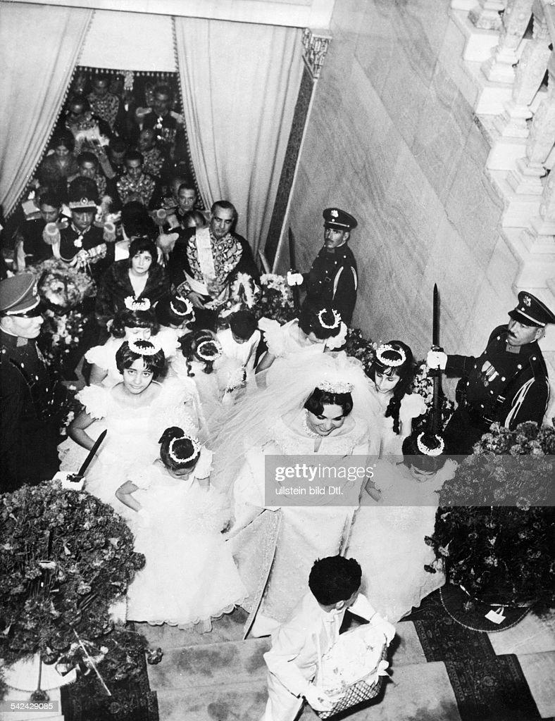 Diba Pahlavi, Farah - Frau von Reza Pahlavi, Hochzeit Pictures ...