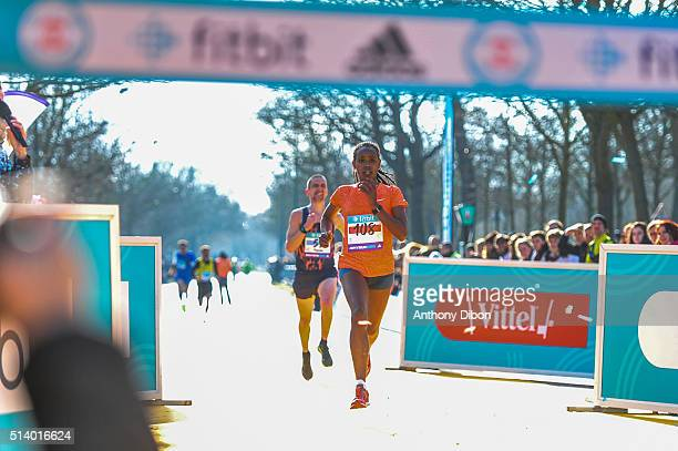 Dibabe Kuma during Half Marathon on March 6 2016 in Paris France