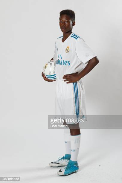 Diby Keita of Real Madrid Cadete B poses during an official portrait session at Valdebebas training ground on September 28 2017 in Madrid Spain