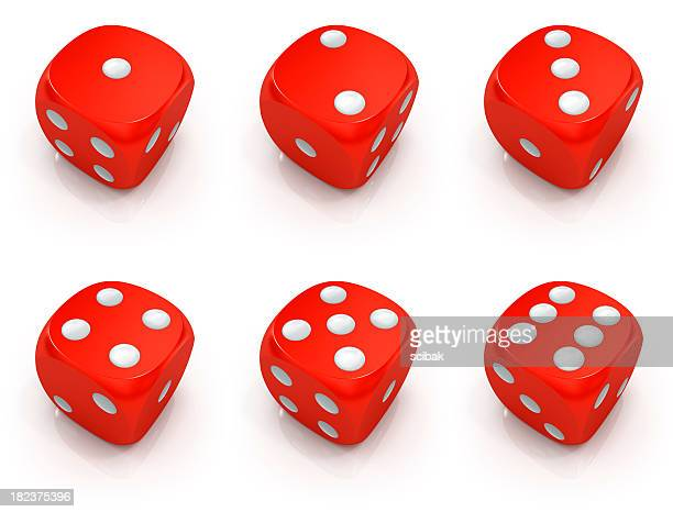 Dice 1 to 6 set