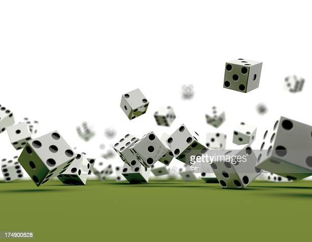Dice falling (white Background)