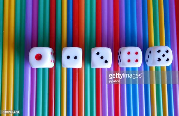 dice game - shuffling stock photos and pictures