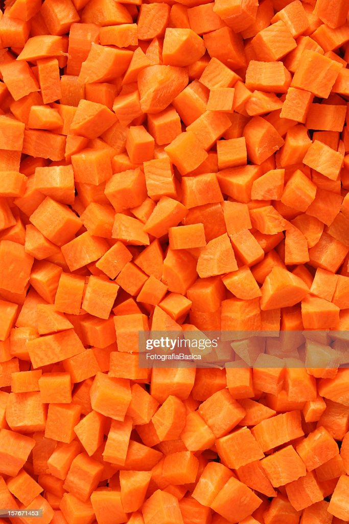 Diced carrots background : Stock Photo