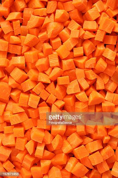 Diced carrots background