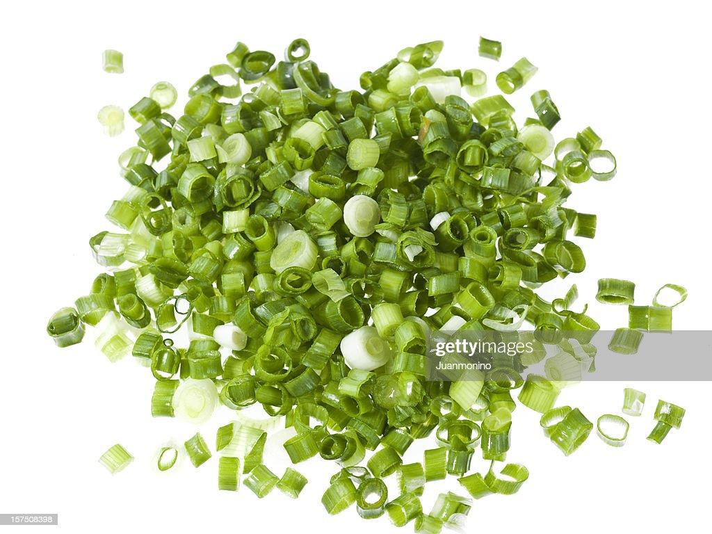 diced green onions : Stock Photo