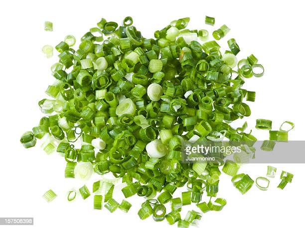 diced green onions - pared stock pictures, royalty-free photos & images