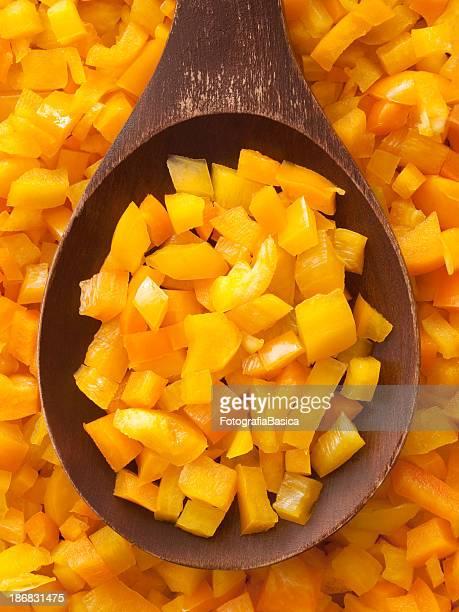 Diced yellow bell pepper