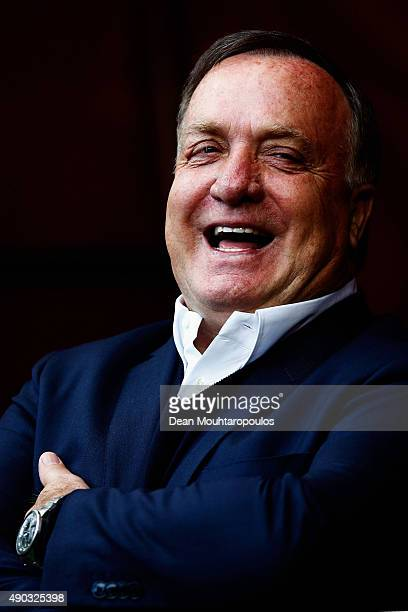 Dick Advocaat manager of Sunderland has a laugh prior to the Barclays Premier League match between Manchester United and Sunderland at Old Trafford...