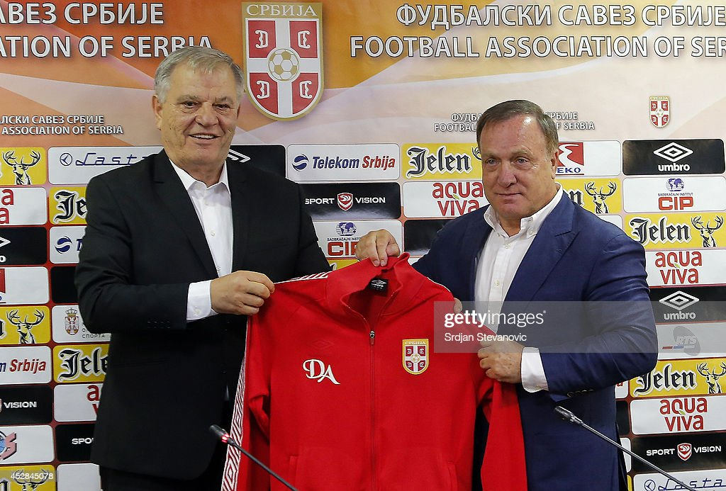 Dick Advocaat Unveiled As New Serbia Manager : News Photo