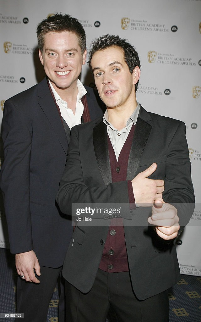 Dick aka Richard McCourt and Dom aka Dominic Simon Wood poses in the press room at the 'EA British Academy Children's Awards 2009' at The London Hilton on November 29, 2009 in London, England.
