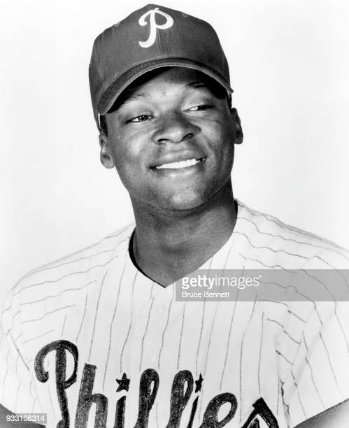 Dick Allen of the Philadelphia Phillies poses for a portrait during Spring Training circa March 1965 in Clearwater Florida