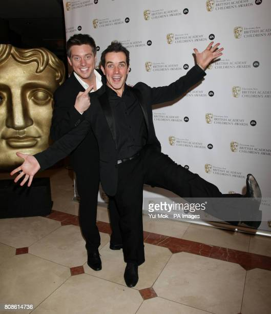 Dick and Dom arriving for the British Academy Children's Awards 2010 at the London Hilton on Park Lane central London