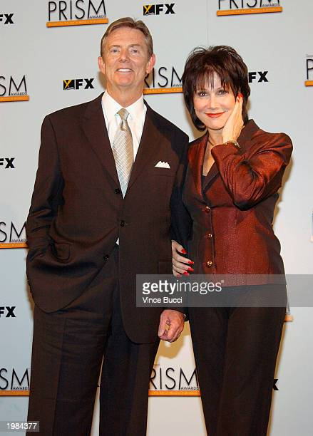 Dick Askin Tribune Entertainment Company CEO and Actress Michele Lee pose backstage at the 7th Annual Prism Awards held at the Henry Fonda Music Box...