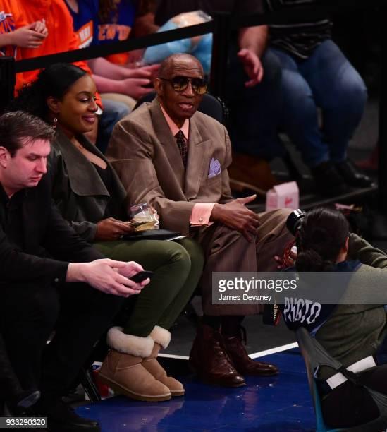 Dick Barnett attends New York Knicks Vs Charlotte Hornets game at Madison Square Garden on March 17 2018 in New York City