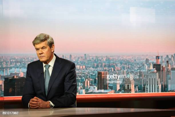 Dick Boer chief executive officer of Koninklijke Ahold Delhaize NV listens during a Bloomberg Television interview in New York US on Tuesday Dec 12...