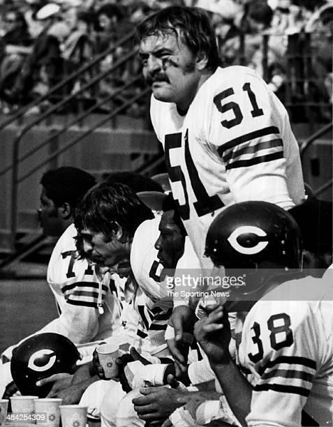 Dick Butkus of the Chicago Bears looks on circa 1960s