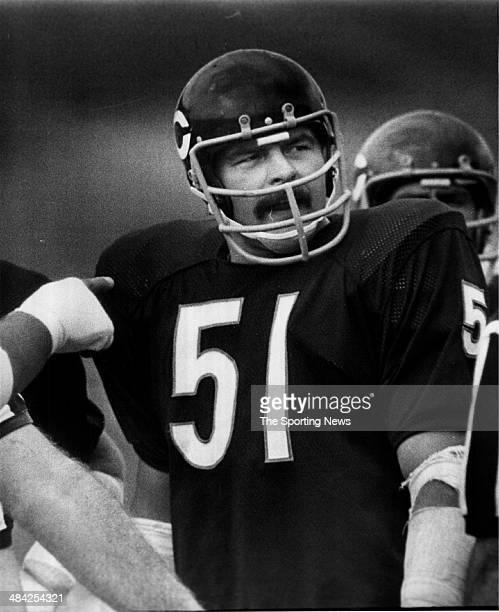 Dick Butkus of the Chicago Bears looks on circa 1960s.