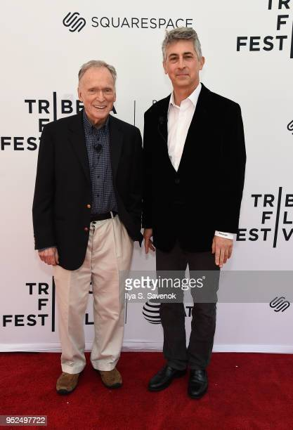 Dick Cavett and Alexander Payne attend Director's Series Alexander Payne during 2018 Tribeca Film Festival at SVA Theater on April 28 2018 in New...