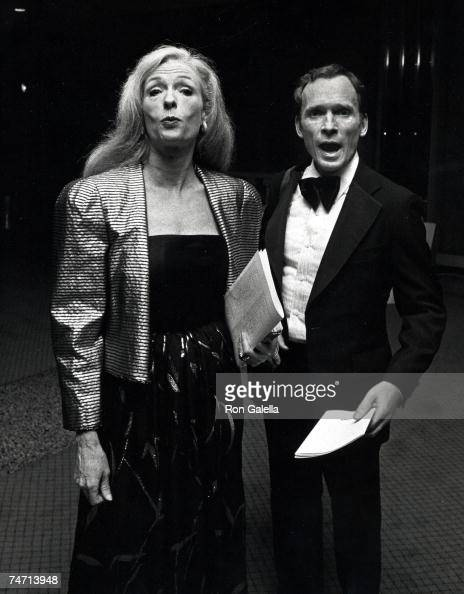Dick Cavett And Carrie Nye At The Palace Theater In New